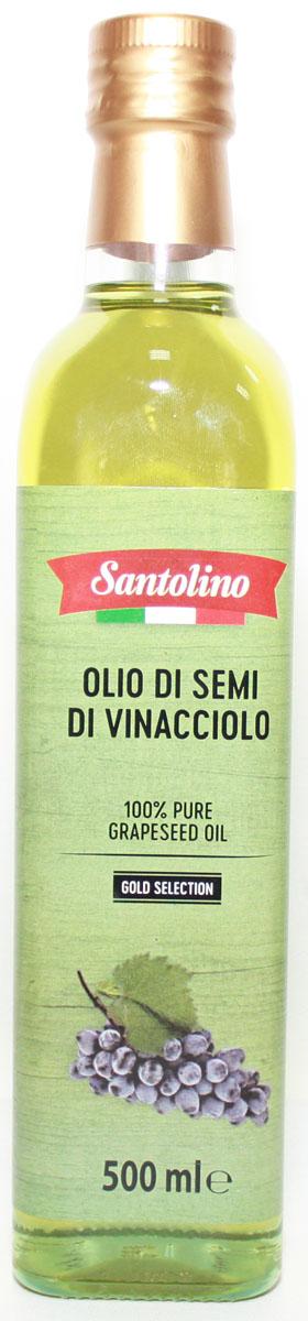 Santolino Масло из виноградных косточек, 500 мл масло из виноградных косточек trasimeno рафинированное 1 л италия
