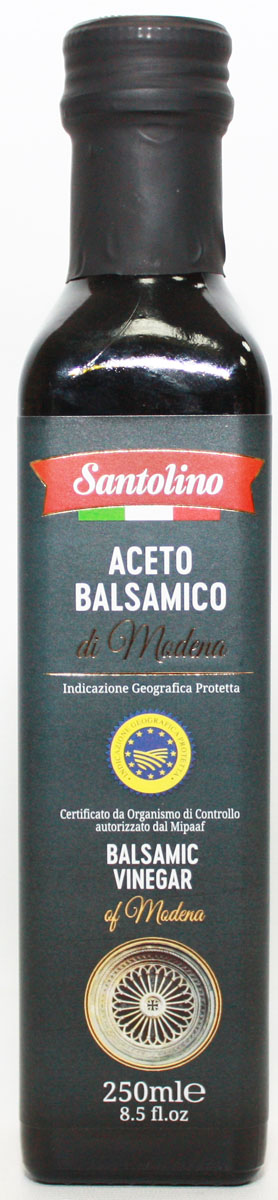 Santolino Бальзамический уксус из Модены, 250 мл bebivita пюре овощное рагу с цыпленком с 9 мес 190 гр