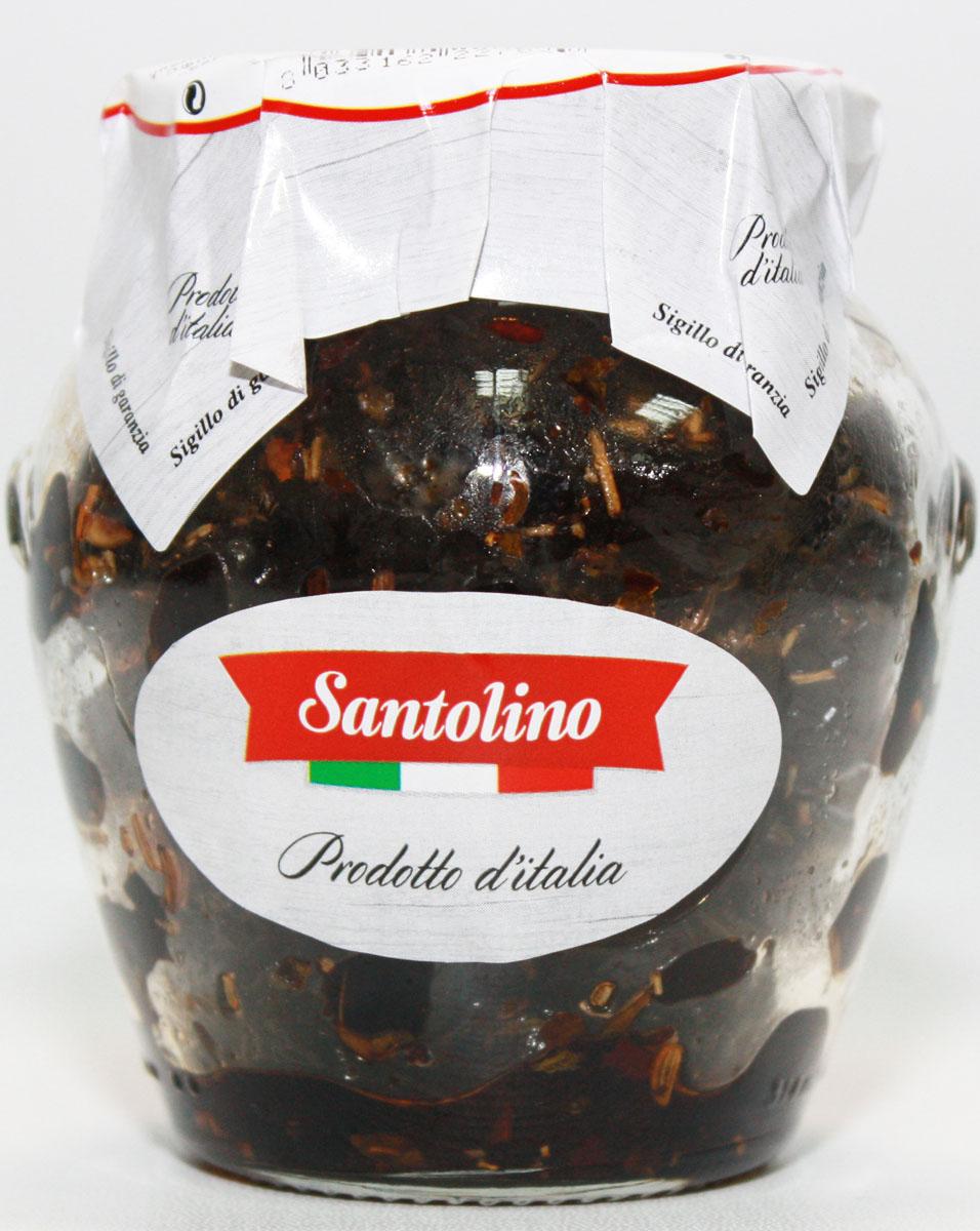 Santolino Маслины вяленые, 314 мл santolino оливки гигант зеленые с косточкой 314 мл