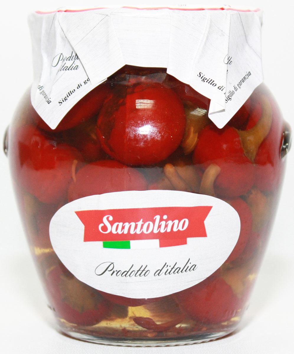Santolino Перец Черри в оливковом масле, 314 мл santolino маслины вяленые 400 г