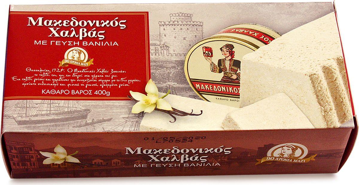Macedonian Халва македонская кунжутная с ванилью, 400 г, Macedonian Halva