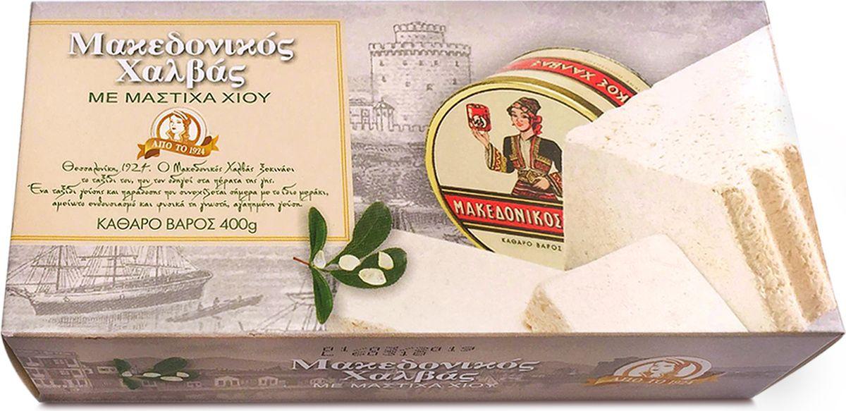 Macedonian Халва македонская кунжутная с хиос мастикой, 400 г, Macedonian Halva