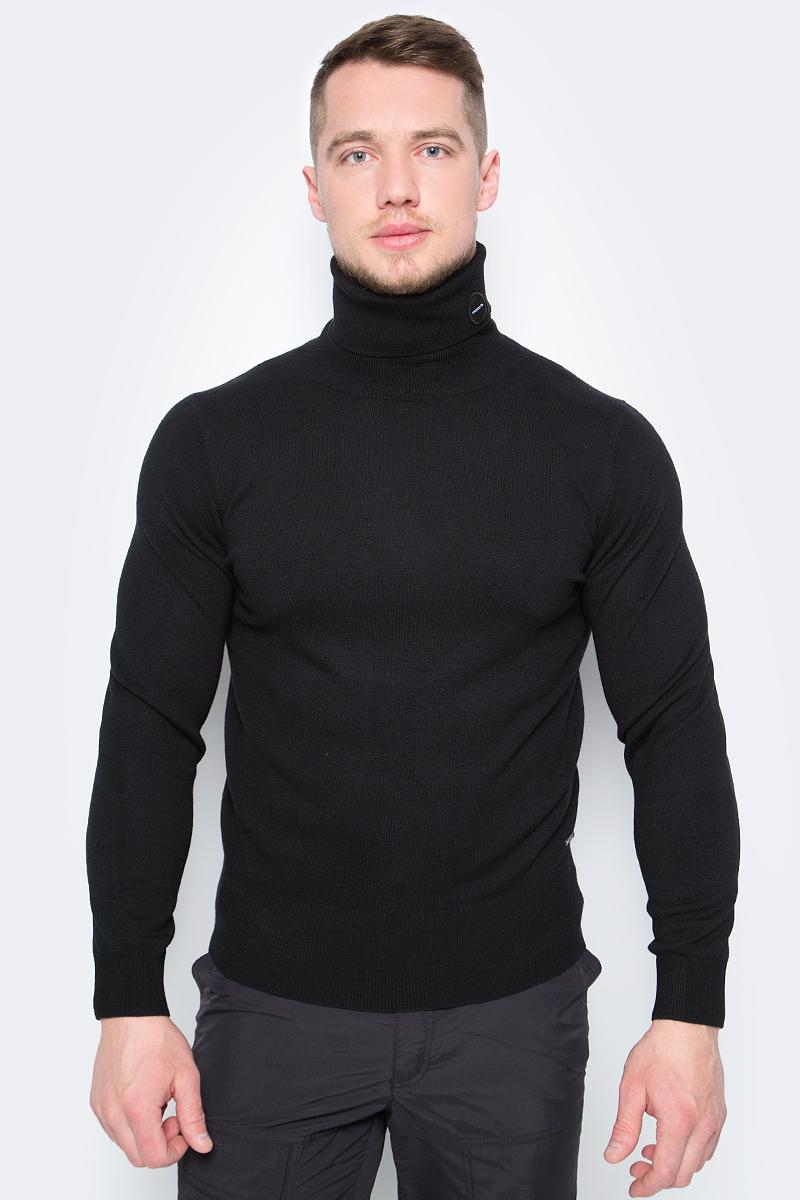 Свитер мужской ZASPORT, цвет: черный. ZMA217-096/001-BLK. Размер XXL (52) moncler шерстяной свитер