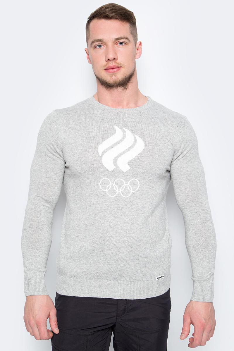 Джемпер мужской ZASPORT, цвет: светло-серый. OMA217-050/001-LGR. Размер L (48)OMA217-050/001-LGRДжемпер от ZASPORT выполнен из вискозной пряжи с добавлением кашемира. Модель с длинными рукавами и круглым вырезом горловины на груди оформлена олимпийской символикой.