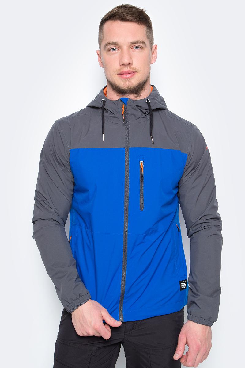 Куртка мужская Icepeak, цвет: синий. 956113521IV_935. Размер 48956113521IV_935Легкая куртка от Icepeak выполнена из высококачественного полиэстера. Модель с длинными рукавами и капюшоном застегивается на молнию, по бокам и на груди дополнена карманами на молниях.