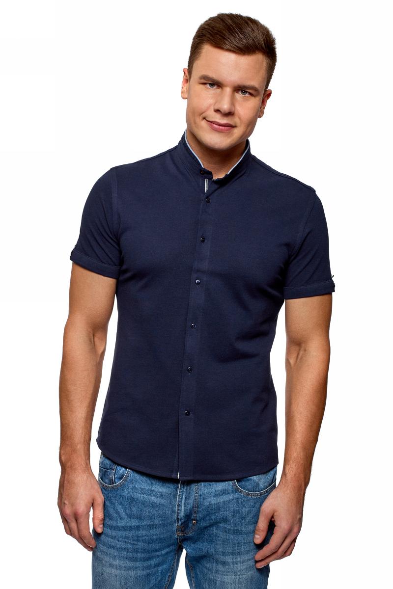 Рубашка мужская oodji Lab, цвет: темно-синий. 5L301002M/34522N/7979B. Размер XL (56) рубашка мужская oodji lab цвет темно синий 3l240006m 34146n 7979b размер 44 56 182