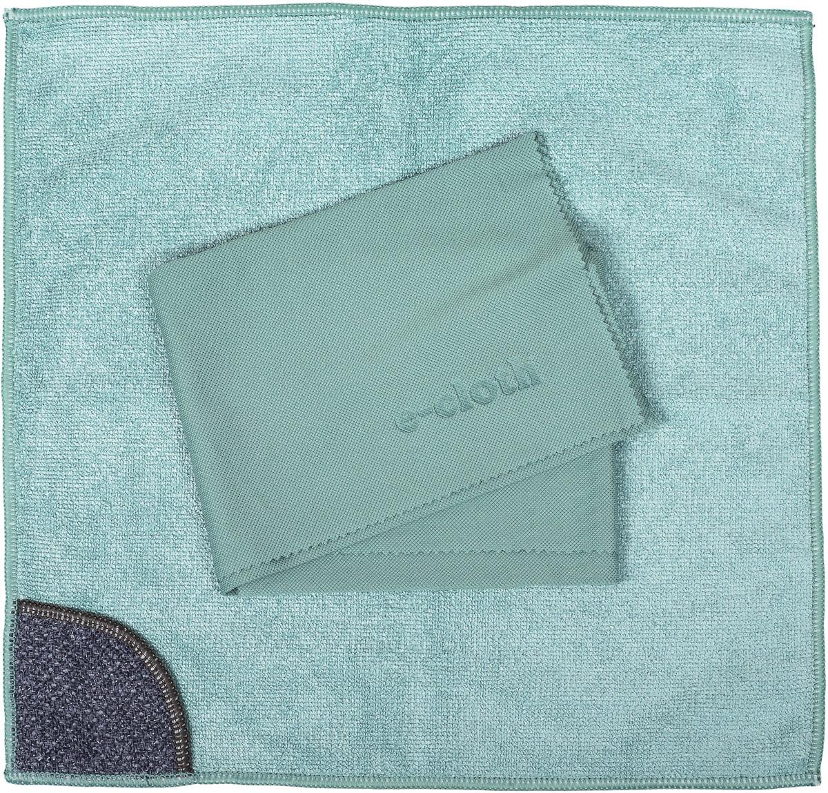 Набор салфеток E-cloth для кухни, цвет: зеленый, 2 шт20236_зеленыйНабор салфеток E-cloth для кухни, цвет: зеленый, 2 шт