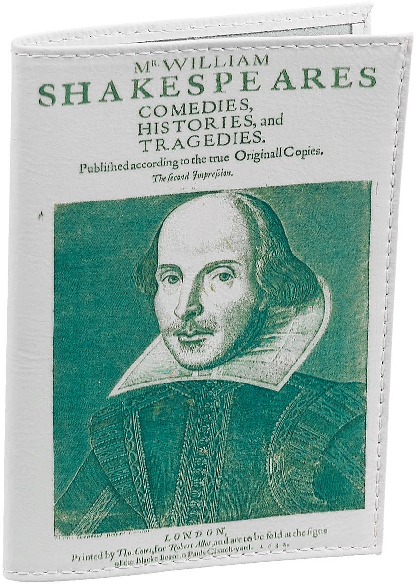 Обложка для паспорта Шекспир. OK078Натуральная кожаОбложка для паспорта Шекспир, выполненная из натуральной кожи, оформленаизображением портрета Шекспира. Такая обложка не только поможет сохранитьвнешний вид ваших документов и защитит их от повреждений, но и станетстильным аксессуаром, идеально подходящим вашему образу. Яркая иоригинальная обложка подчеркнет вашу индивидуальность и изысканный вкус.Обложка для паспорта стильного дизайна может быть достойным иоригинальным подарком.