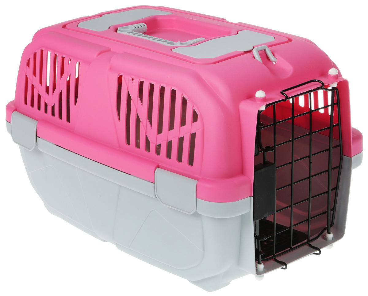 Переноска для животных №1, цвет: розовый, 48 х 32 х 31 см сумка переноска для животных теремок цвет голубой синий белый 44 х 19 х 20 см