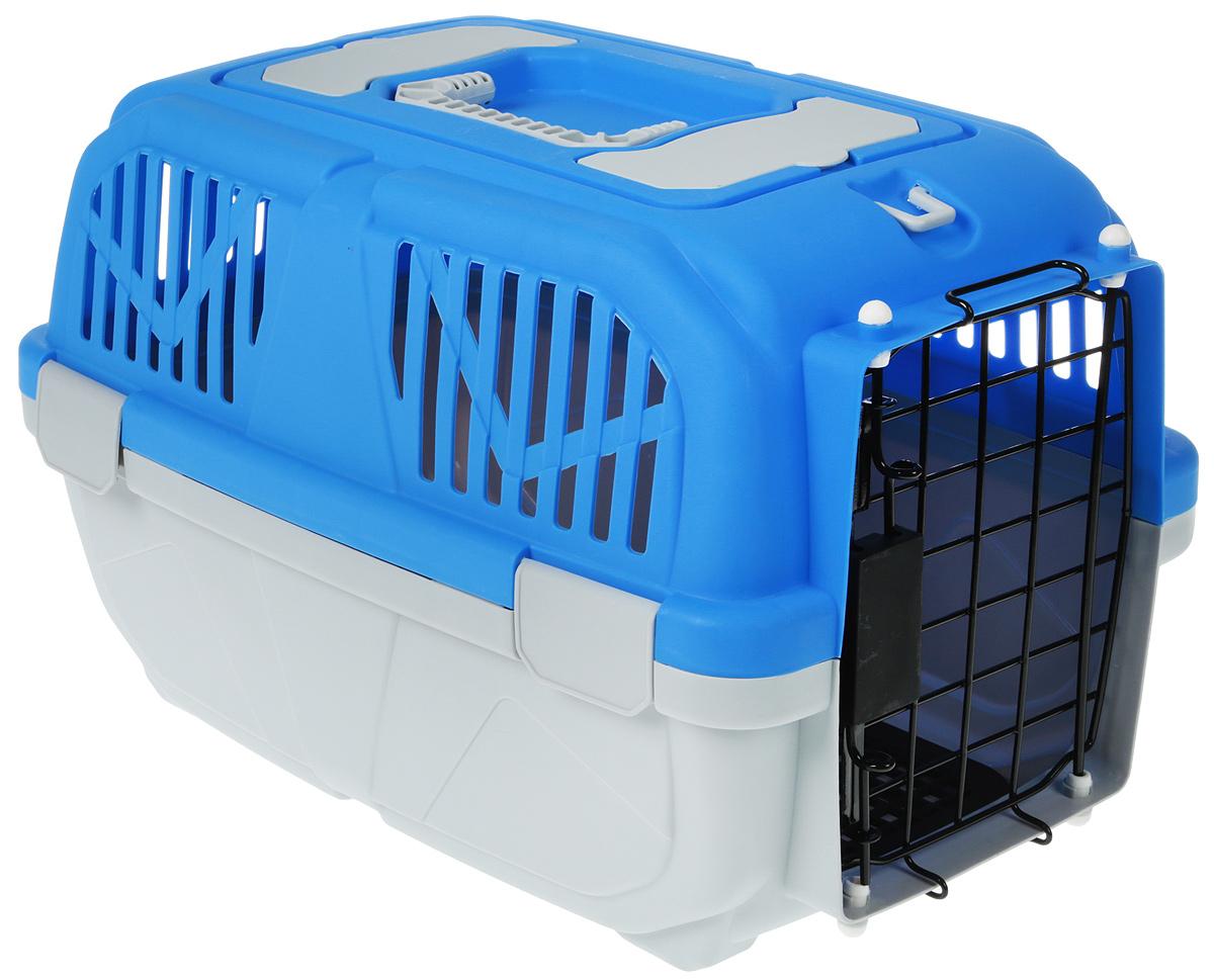 Переноска для животных №1, цвет: голубой, 48 х 32 х 31 см сумка переноска для животных теремок цвет голубой синий белый 44 х 19 х 20 см