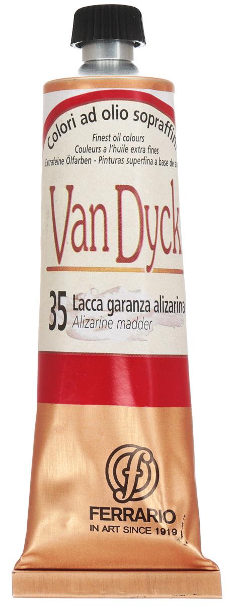 Ferrario Краска масляная Van Dyck цвет №35 краплак ализарин 60 млAV0017CO35Масляные краски серии VAN DYCK итальянской компании Ferrario изготавливаются из натуральных мелко тертых пигментов с добавлением качественного связующего материала. Благодаря этому масляные краски VAN DYCK обладают превосходной светостойкостью, чистотой цветов и оттенков. Краски можно разбавлять льняным маслом, терпентином или нефтяными разбавителями. Все цвета хорошо смешиваются между собой. В серии масляных красок VAN DYCK представлено 87 различных оттенков, а также 6 металлических оттенков.Дополнительные характеристики: – Изготавливаются из натуральных мелко тертых пигментов с добавлением качественного связующего материала; – Краски хорошо смешиваются между собой;