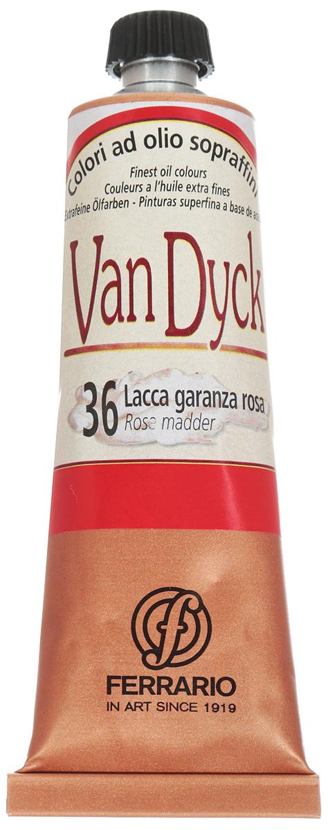 Ferrario Краска масляная Van Dyck цвет №36 розовый краплак 60 мл