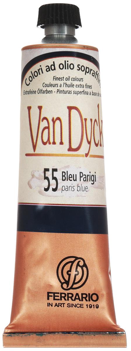 Ferrario Краска масляная Van Dyck цвет №55 парижский синий 60 мл -  Краски
