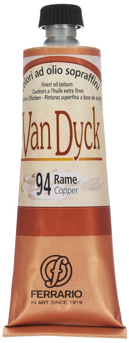 Ferrario Краска масляная Van Dyck цвет №94 медь 60 млAV1117CO94Масляные краски серии VAN DYCK итальянской компании Ferrario изготавливаются из натуральных мелко тертых пигментов с добавлением качественного связующего материала. Благодаря этому масляные краски VAN DYCK обладают превосходной светостойкостью, чистотой цветов и оттенков. Краски можно разбавлять льняным маслом, терпентином или нефтяными разбавителями. Все цвета хорошо смешиваются между собой. В серии масляных красок VAN DYCK представлено 87 различных оттенков, а также 6 металлических оттенков.Дополнительные характеристики: – Изготавливаются из натуральных мелко тертых пигментов с добавлением качественного связующего материала; – Краски хорошо смешиваются между собой;