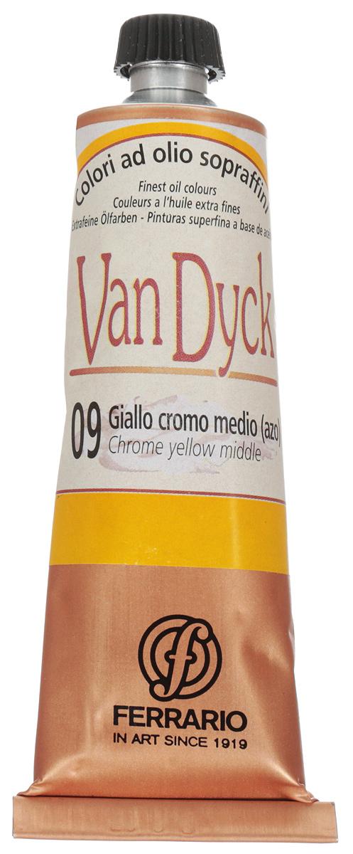 Ferrario Краска масляная Van Dyck цвет №09 хром желтый средний 60 мл
