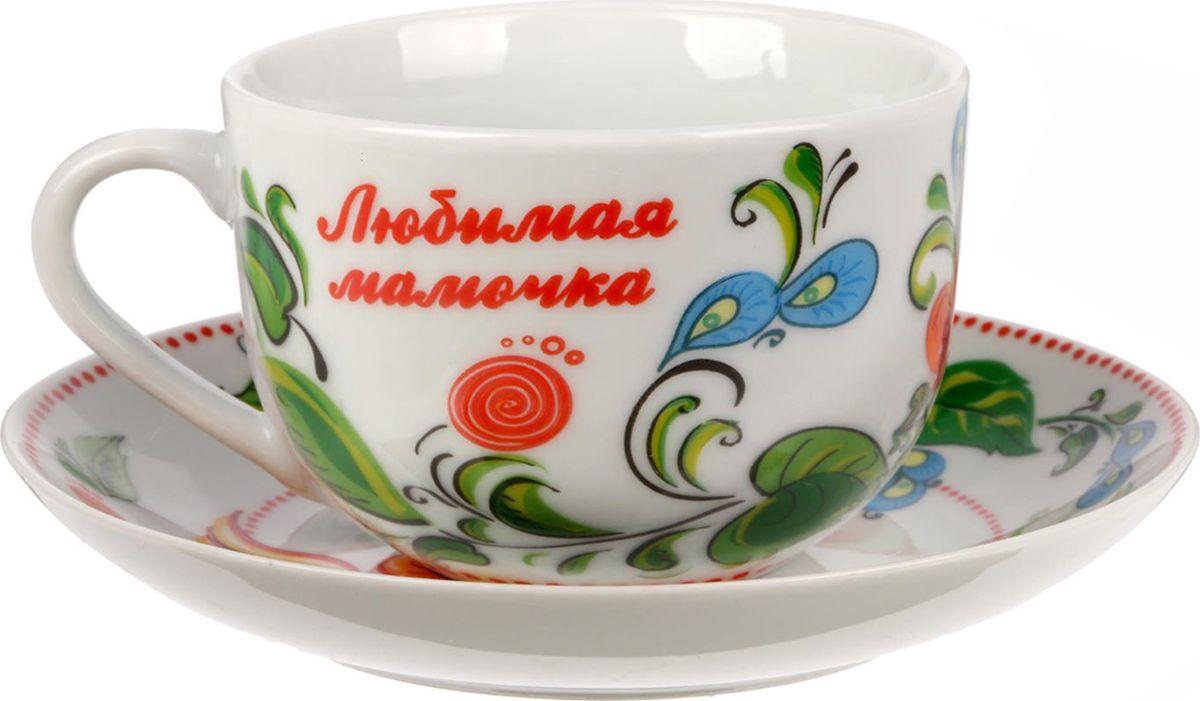 Чайная пара Жостово, цвет: белый, 2 предмета. 15380421538042Яркий, неповторимый набор создан, чтобы моментально поднимать настроение и дарить радость. А любой напиток станет вкуснее, если пить его из такой посуды.Комплект с благородным дизайном изготовлен из лёгкой керамики. Это отличный подарок, который придётся по душе всем любителям чая или кофе.В набор входит:чашка с рисунком, 220 мл;блюдце с рисунком, 15 см.Пара преподносится в подарочной коробке с индивидуальным дизайном.