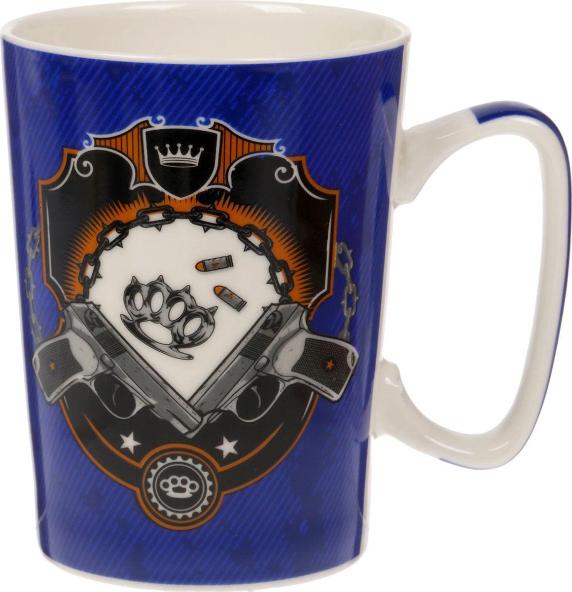Кружка Жутко брутален, цвет: синий, 350 мл1592010Оригинальная кружка станет отличным подарком для близкого человека. Авторское изображение, оптимальный объём и стильная упаковка — отличительные черты этого изделия.