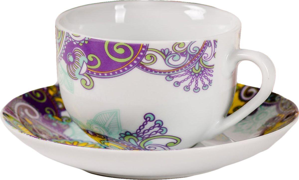 Яркий, неповторимый набор создан, чтобы моментально поднимать настроение и дарить радость. А любой напиток станет вкуснее, если пить его из такой посуды.Комплект с благородным дизайном изготовлен из лёгкой керамики. Это отличный подарок, который придётся по душе всем любителям чая или кофе.В набор входит:чашка с рисунком, 220 мл;блюдце с рисунком, 15 см.Пара преподносится в подарочной коробке с индивидуальным дизайном.