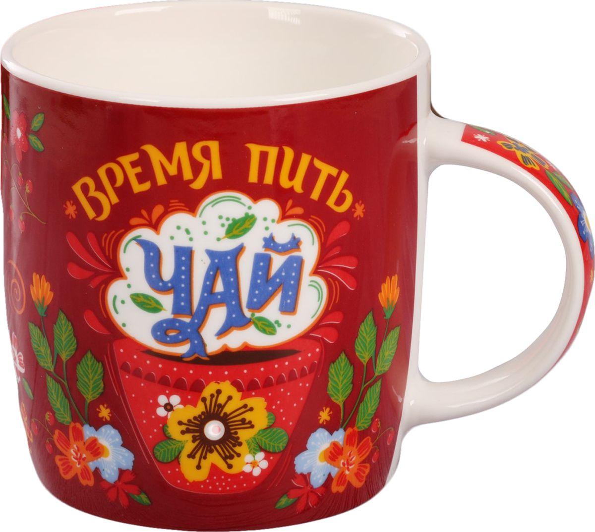 Кружка Время пить чай, цвет: красный, 300 мл2929556От качества посуды зависит не только вкус еды, но и здоровье человека. Кружка— товар, соответствующий российским стандартам качества. Любой хозяйке будет приятно держать его в руках. С нашей посудой и кухонной утварью приготовление еды и сервировка стола превратятся в настоящий праздник.