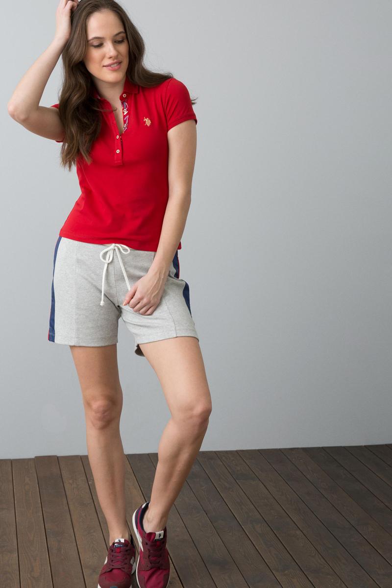 Поло женское U.S. Polo Assn., цвет: красный. G082SZ0110RP01IY08-011. Размер M (46) поло женское u s polo assn цвет розовый g082sz0110tp01iy06 011 размер xs 42