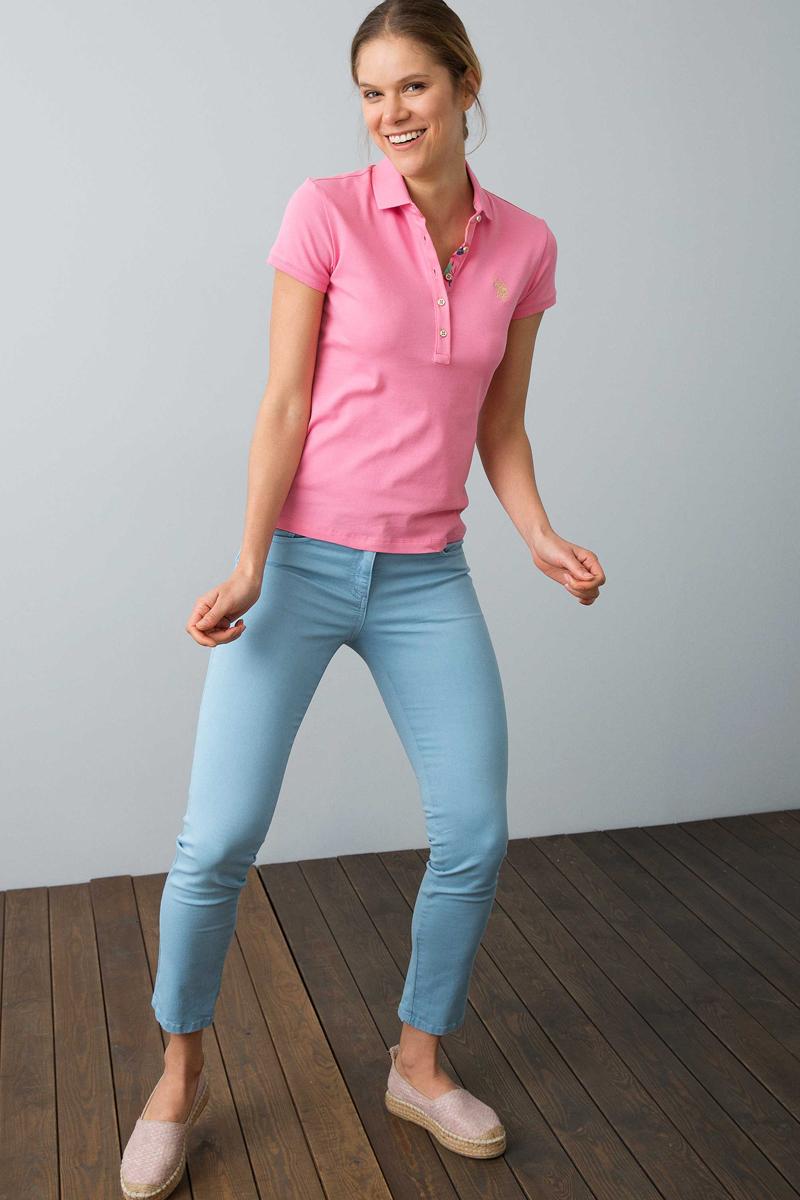 Поло женское U.S. Polo Assn., цвет: розовый. G082SZ0110RP01IY08-011. Размер XL (50) платье женское u s polo assn цвет хаки g082sz0750mts02iy08 075 vr111 размер xl 50