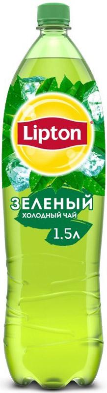 Lipton Ice Tea Зеленый холодный чай, 1,5 л lipton lemon melissa green tea зеленый чай в пирамидках с листочками лимонной мяты 20 шт