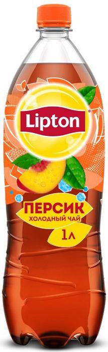 Lipton Ice Tea Персик холодный чай, 1 л lipton лимон холодный чай 0 33 л