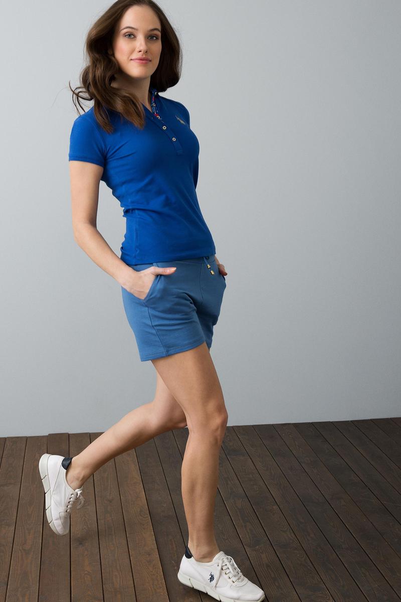 Поло женское U.S. Polo Assn., цвет: синий. G082SZ0110RP01IY08-011. Размер XL (50) платье женское u s polo assn цвет хаки g082sz0750mts02iy08 075 vr111 размер xl 50