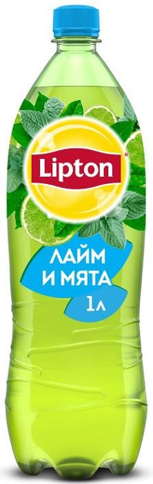 Lipton Ice Tea Лайм-Мята холодный чай, 1 л lipton лимон холодный чай 0 33 л