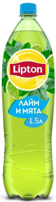 Lipton Ice Tea Лайм-Мята холодный чай, 1,5 л lipton лимон холодный чай 0 33 л