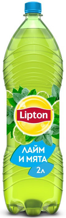 Lipton Ice Tea Лайм-Мята холодный чай, 2 л lipton lemon melissa green tea зеленый чай в пирамидках с листочками лимонной мяты 20 шт