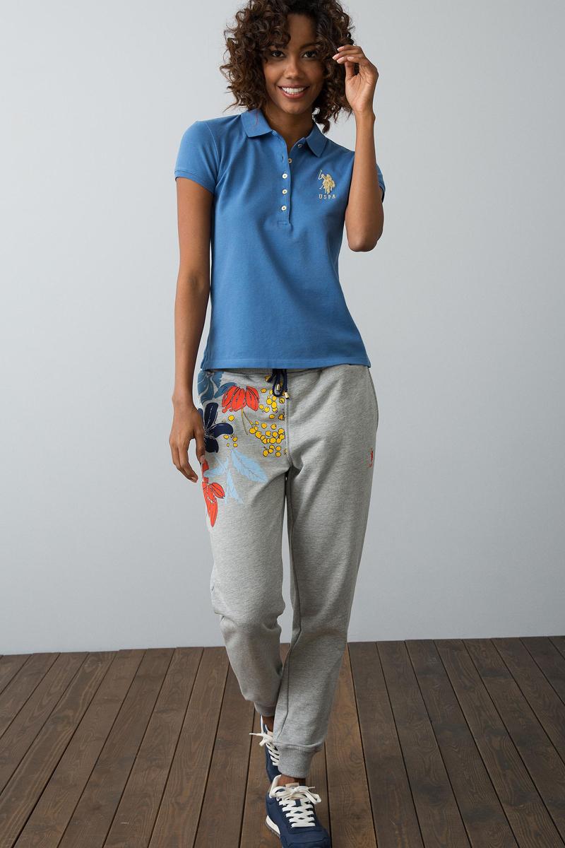 Поло женское U.S. Polo Assn., цвет: темно-голубой. G082SZ0110MTS022IY08-011. Размер S (44)
