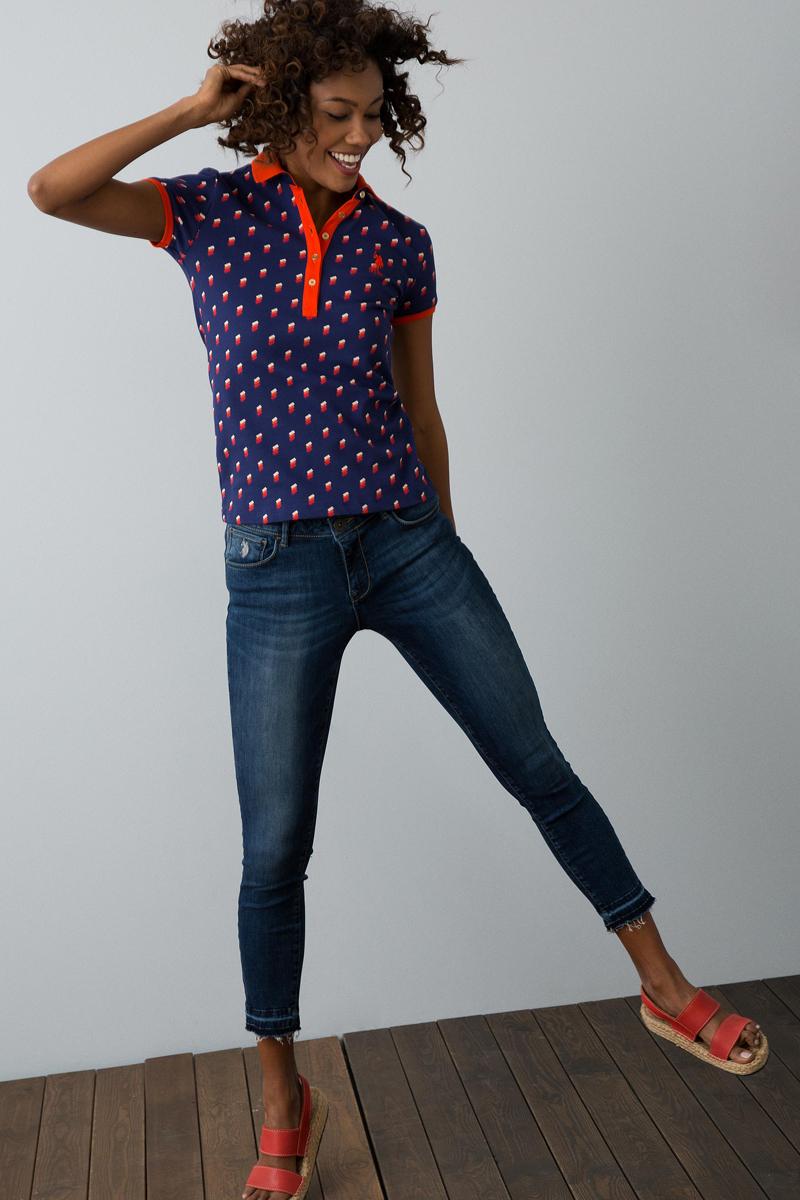 Поло женское U.S. Polo Assn., цвет: темно-синий. G082SZ0110NARDO. Размер XXS (40) футболка поло u s polo assn