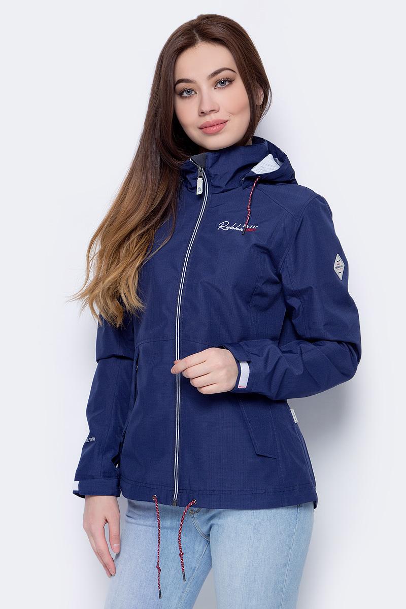 Куртка женская Rukka, цвет: темно-синий. 979325283RV_385. Размер 40 (48)979325283RV_385Легкая куртка от Rukka выполнена из высококачественного полиэстера. Модель с длинными рукавами, воротником-стойкой и отстегивающимся капюшоном застегивается на молнию, по бокам дополнена втачными карманами.
