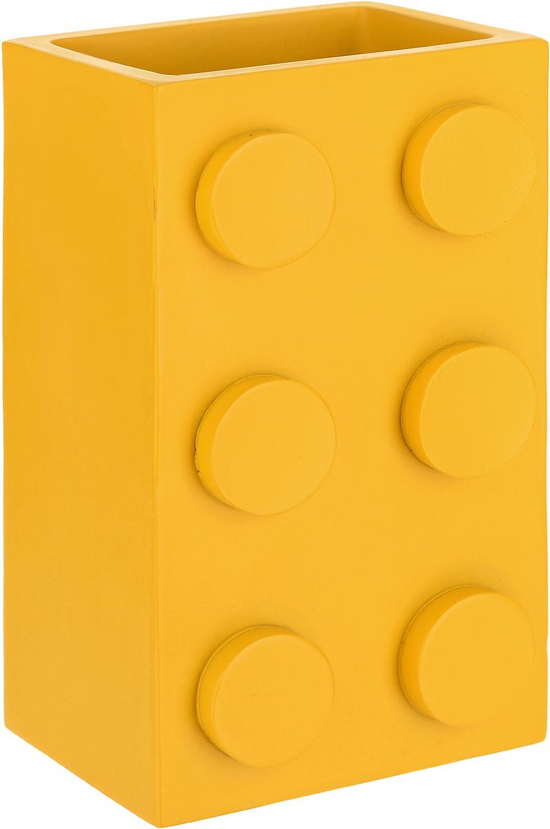 Стакан для зубных щеток Ridder Bob, цвет: желтый22210205_желтыйСтакан для зубных щеток Ridder Bob, цвет: желтый