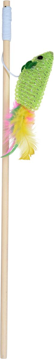 Фото - Дразнилка-удочка для кошек Уют Мышка, 40 см, цвет: салатовый удочка зимняя swd ice bear 60 см