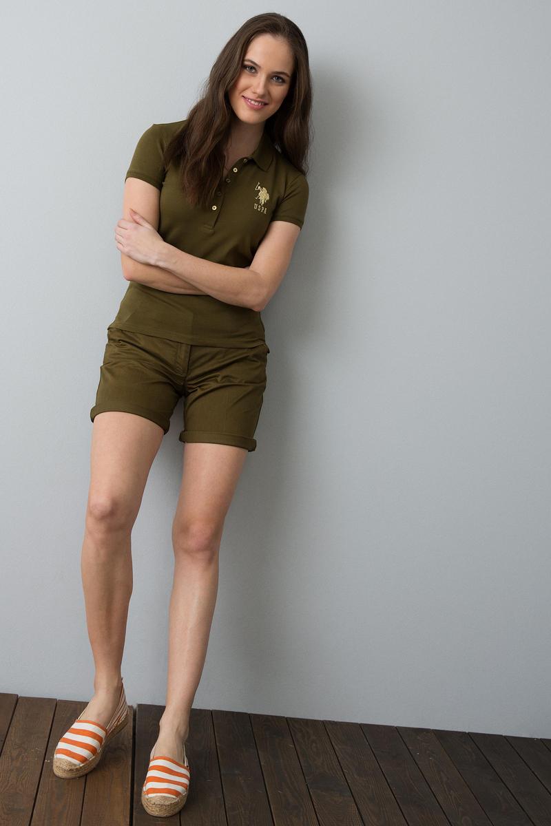 Поло женское U.S. Polo Assn., цвет: хаки. G082SZ0110MTS022IY08-011. Размер XL (50) платье женское u s polo assn цвет хаки g082sz0750mts02iy08 075 vr111 размер xl 50
