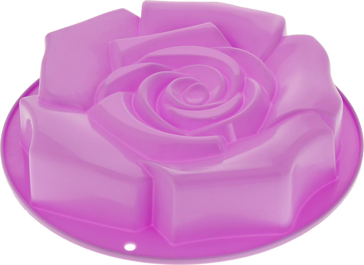 Форма для выпечки Доляна Роза ветров, цвет: сиреневый, 30 х 30 х 5,5 см ваза mughal l 20 х 20 х 30 см