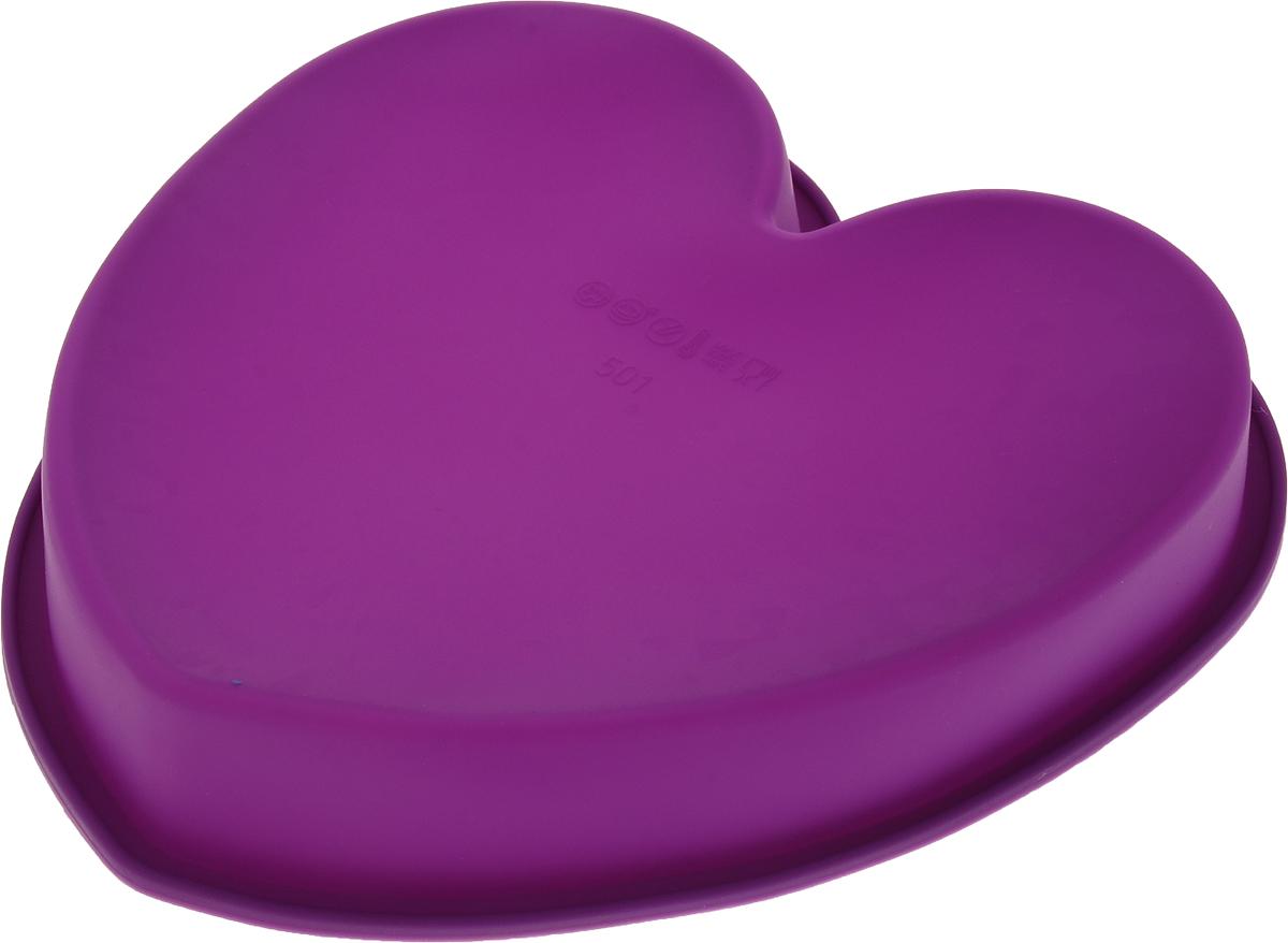 """Форма для выпечки Доляна """"Сердце"""", цвет: фиолетовый, 24 х 23 х 4 см Как выбрать форму для выпечки – статья на OZON Гид."""