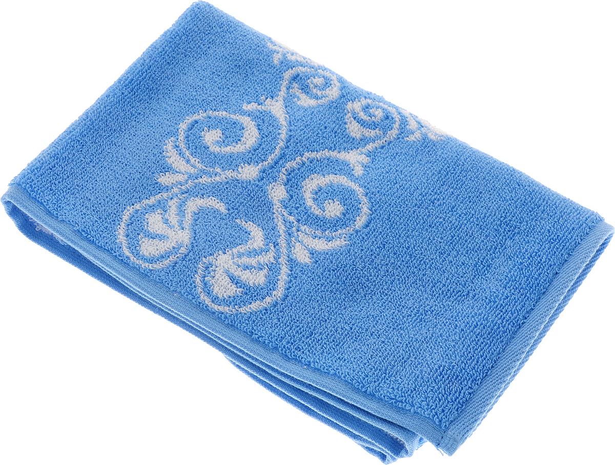 Полотенце Aquarelle Шарлиз, цвет: белый, синий, 35 х 70 см полотенце aquarelle стамбул 70x140cm white blue 710397