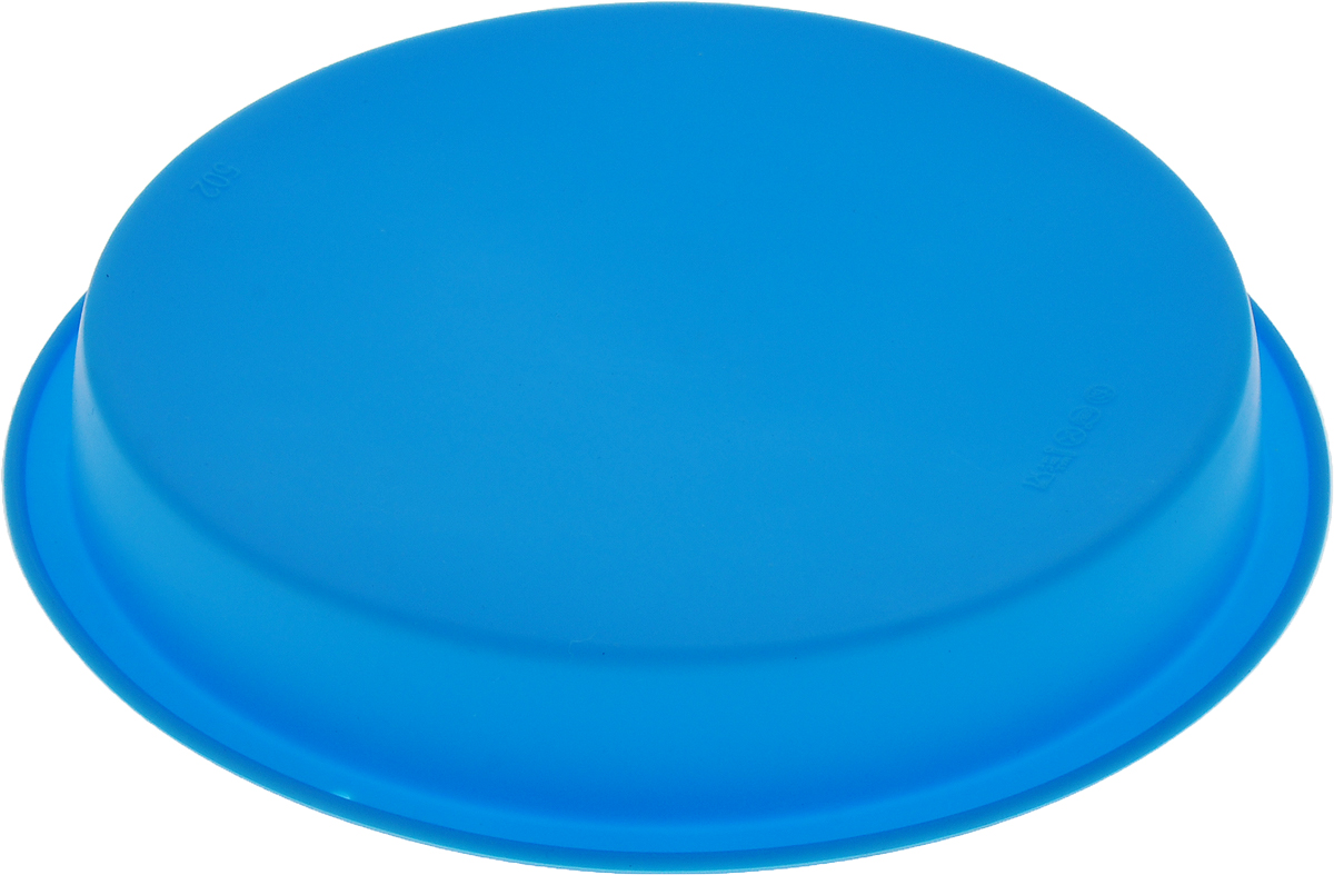 """Форма для выпечки Доляна """"Круг"""", силиконовая, цвет: голубой, диаметр 22 см   Как выбрать форму для выпечки – статья на OZON Гид."""