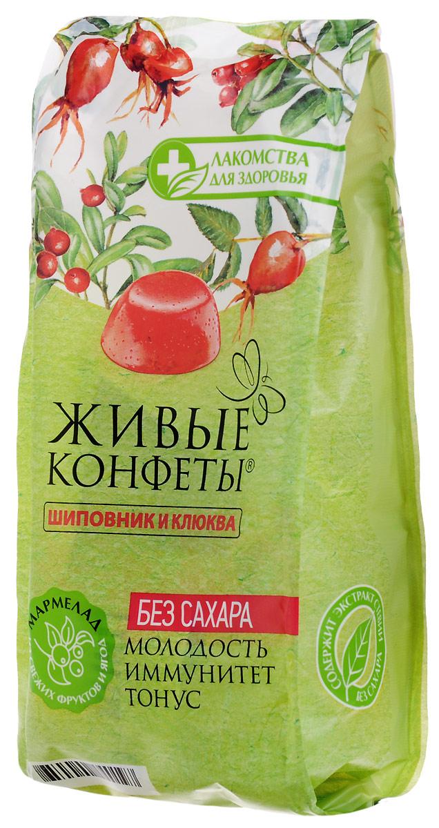 Лакомства для здоровья Мармелад желейный с шиповником и клюквой, 170 г бумба балтика жевательный мармелад 108 г