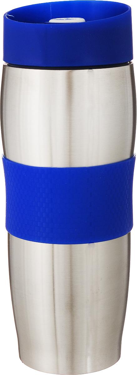 """Термокружка """"Mayer & Boch"""" изготовлена из нержавеющей стали, не содержащей токсичных веществ. Двойные стенки дольше сохраняют напиток горячим и не обжигают руки. Надежная крышка с защитой от проливания обеспечит дополнительную безопасность. Крышка оснащена клапаном для питья. Основание имеет силиконовую вставку для предотвращения скольжения по поверхности. Оптимальный объем термокружки позволит взять с собой большую порцию горячего кофе или чая. Идеально подходит как для горячих, так и для холодных напитков. Такая кружка может быть использована во время отдыха, на работе, в путешествии, во время поездок в автомобиле."""