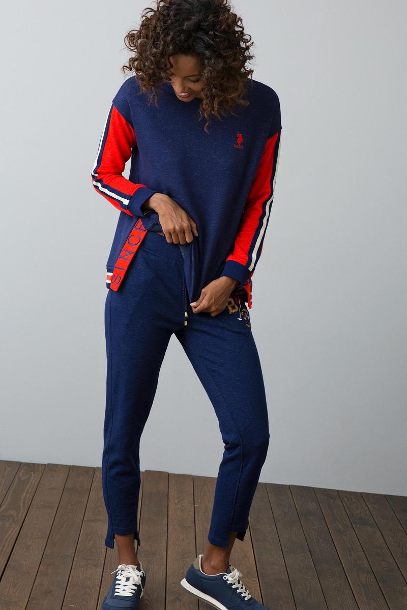 Свитшот женский U.S. Polo Assn., цвет: темно-синий. G082SZ0820NEPHE. Размер XXS (40) женский гардероб