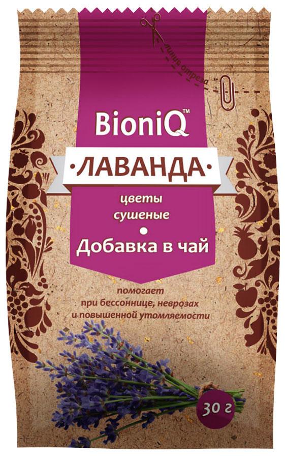 BioniQ Добавка в чай лаванда сушеная, 30 г добавка 5 букв