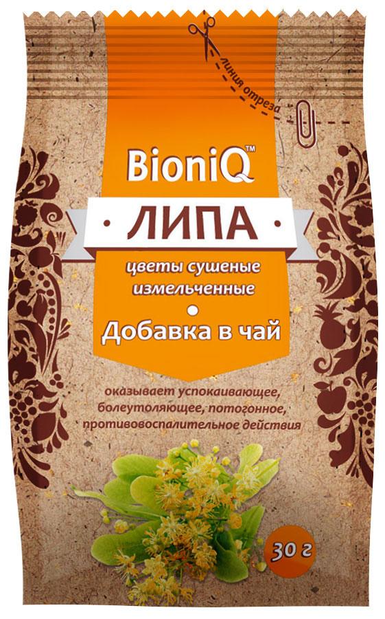 BioniQ Добавка в чай цветы липы сушеные, 30 г добавка 5 букв