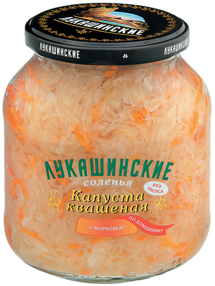 Лукашинские Капуста квашеная по-домашнему с морковью, 670 г