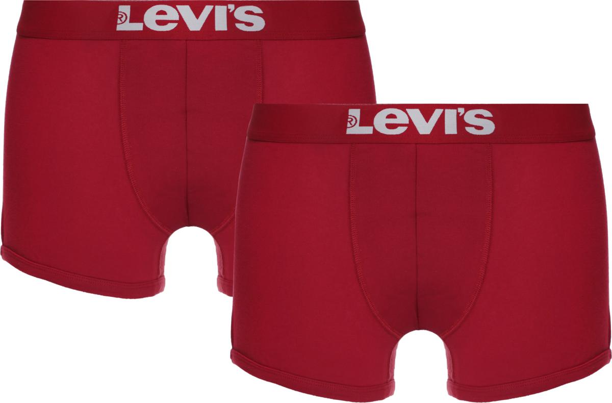 Трусы-боксеры мужские Levi's®, цвет: красный, 2 шт. 3715300010. Размер XL (52) трусы боксеры diesel 00sj54 0kapm 912