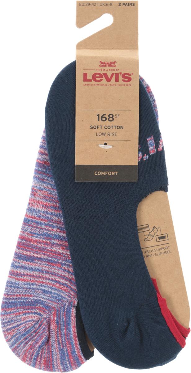 Носки мужские Levi's®, цвет: синий, красный, 2 пары. 3715900110. Размер 35 jd коллекция светло телесный 12 пар носков 15d две кости размер