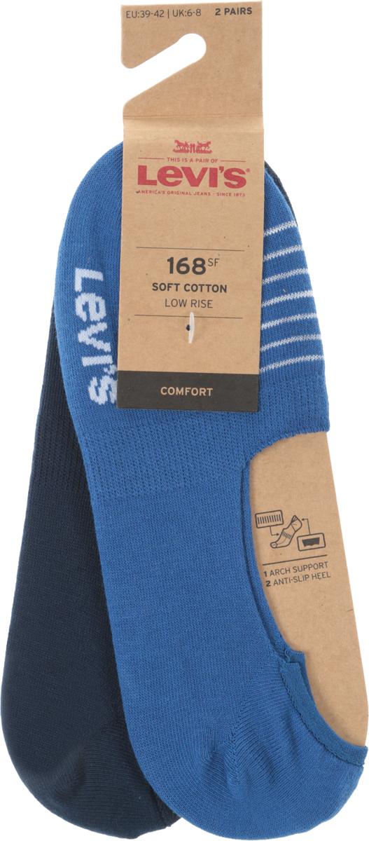 Носки мужские Levi's®, цвет: синий, 2 пары. 3715900100. Размер 39 jd коллекция светло телесный 12 пар носков 15d две кости размер